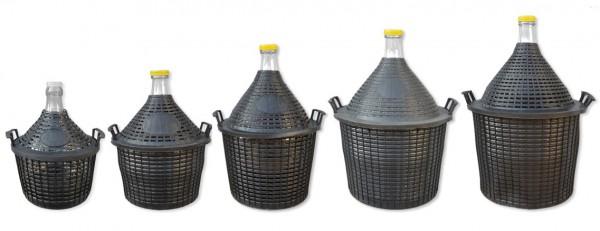 Wasserbehälter Glasballon 5-25 Liter mit Schutzkorb
