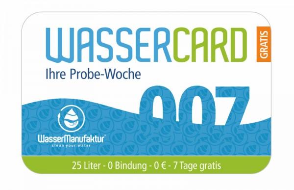 WasserCard 007 - Probewoche gratis