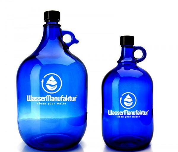 Wasserflasche aus Blauglas - Blauglasflaschen