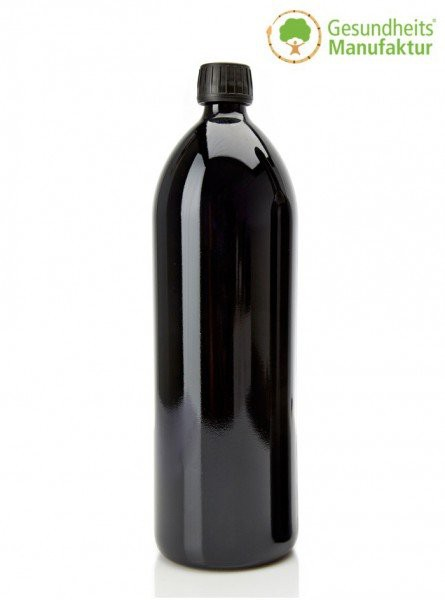 Violett-Glas - MIRON-Glas - Wasserflasche 1000 ml